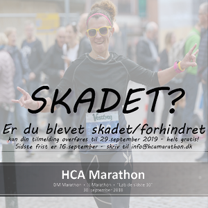 Frist for at overføre til 2019 // HCA Marathon